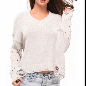 Wildfox Women's Sparkle Shapes Knit Sweater W66